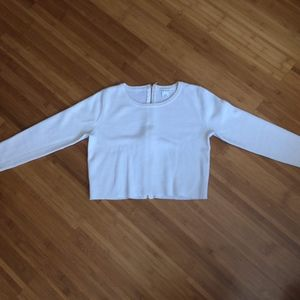 Club Monaco Ivory/Cream crop wool sweater size M